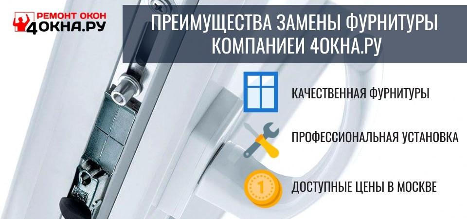 Преимущества установки фурнитуры на окна компанией 4окна.ру
