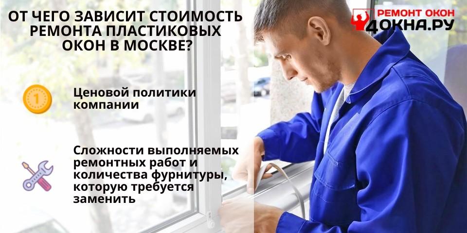 От чего зависит стоимость ремонта пластиковых окон в Москве?